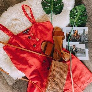 Express Red Cami-Shift Dress